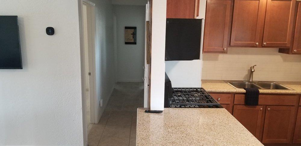Kitchen & hallway to bedrooms