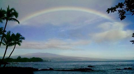 Taken at wedding I officiated - Mauna Kea Rainbow in Hawaii