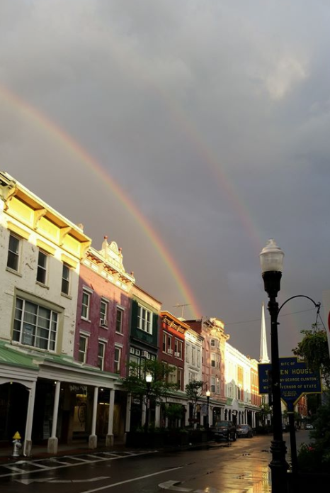 Kia  - Double rainbows on the street where I live - Kingston, NY July 4