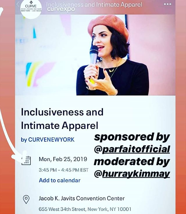 Join us at @curvexpo in NYC tomorrow! Our shop manager will be speaking on a panel about #inclusivity in Intimates. Revelation In Fit stives to be more inclusive every day, and we're always looking for ways to expand our stock and our size range. We are limited by small business funds, but there are so many opportunities for major retailers to expand their size ranges and be more inclusive. We are going to start this conversation, moderated by @hurraykimmay about why it's SO important to be inclusive in this industry. Our customers come to us when they can't find a bra anywhere else, and we want to be able to provide EVERYONE with a bra that fits, because everyone DESERVES a bra that fits. This event will be live streamed on Facebook! We will share links when we have them. It's such an honor to be a part of this conversation.  If you are in the NYC area and can attend, it's FREE! Link to the EventBrite page is in our bio. This event is sponsored by @parfaitofficial