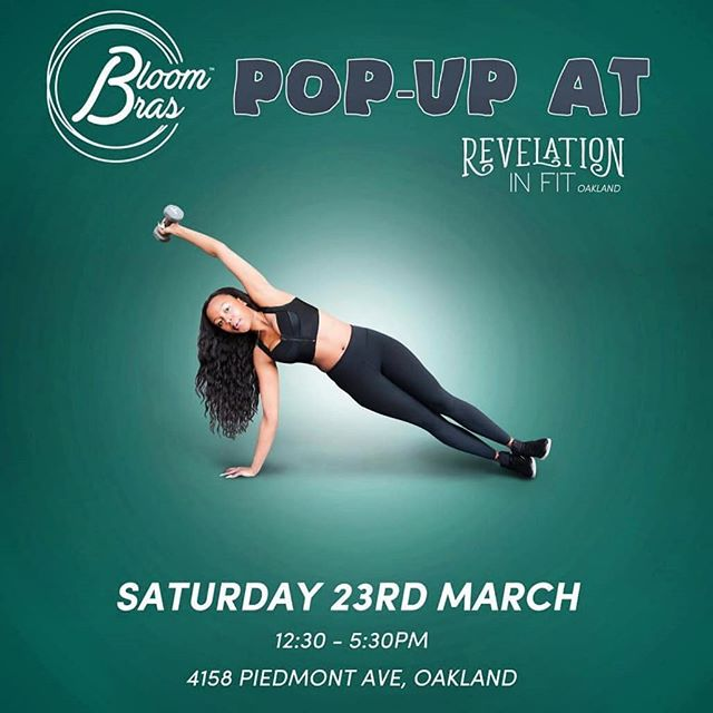 Back by popular demand! Join us this Saturday at our favorite Oakland lingerie store @revelationinfit_oak  Come down for a bra fitting and your chance to purchase a Bloom Bra  #oakland #bayarea #curvy #curvyandfit #bodypositive #plussizefashion #plussize #plussizeboutique #plusfashion #bloombras #liftnotsquish #goldenstatewarriors #piedmont #sf