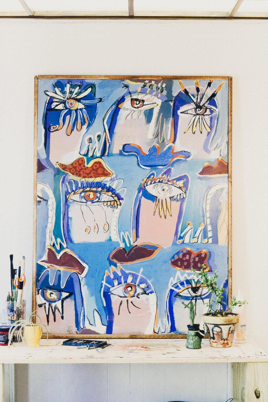 BIG & BLUE  38 x 42