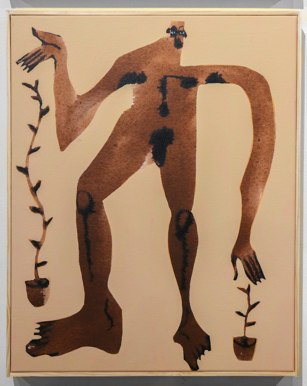 """Plantdad"" - 16 x 20 ""Acrylic & Ink on Canvas"