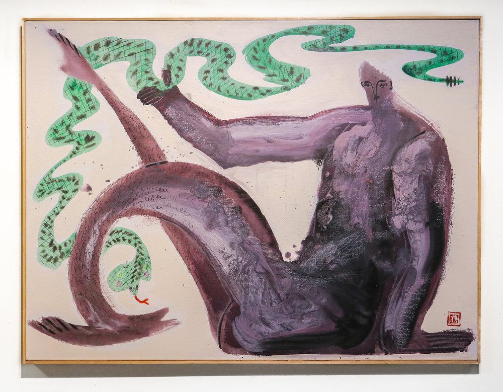 """Cobra Doofus""  30 x 40 ""  Acrylic, Oil & Ink on Canvas"