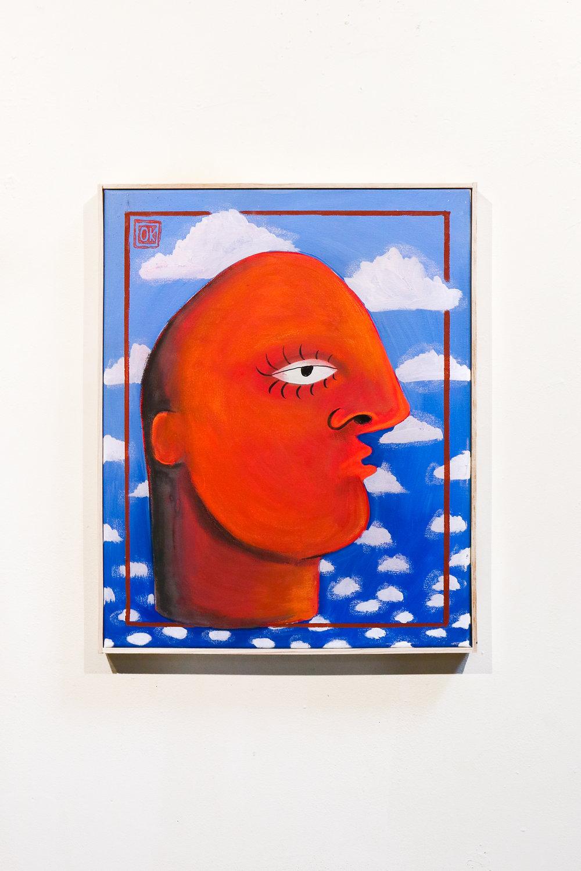 """""""Bobby bulk - portrait"""" - 16 x 20 """"Acrylic, Oil & Ink on Canvas"""