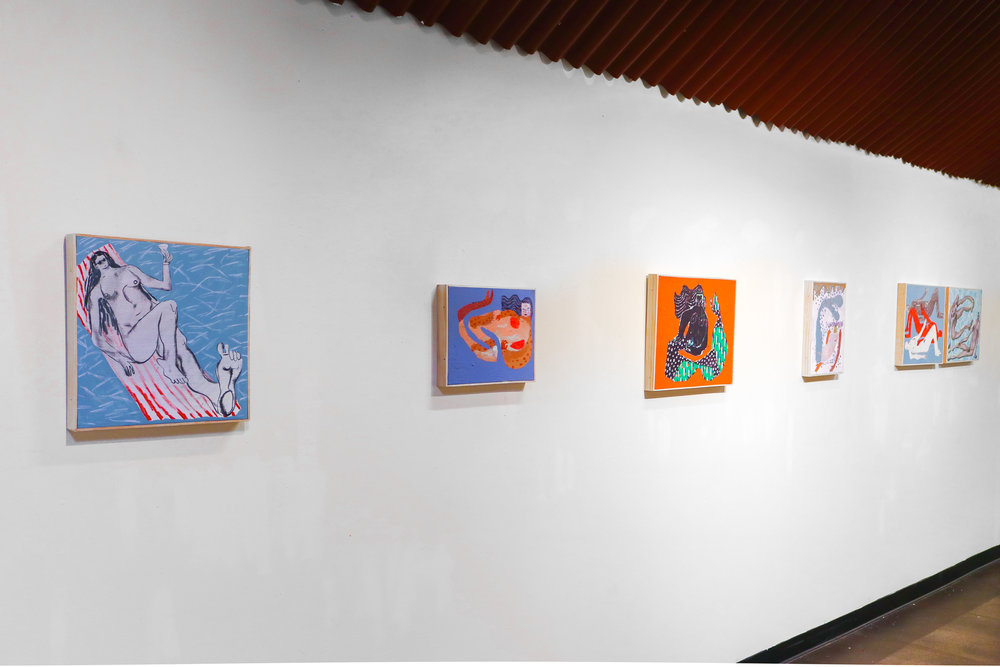 (near, left wall of Art Works Inc. gallery)