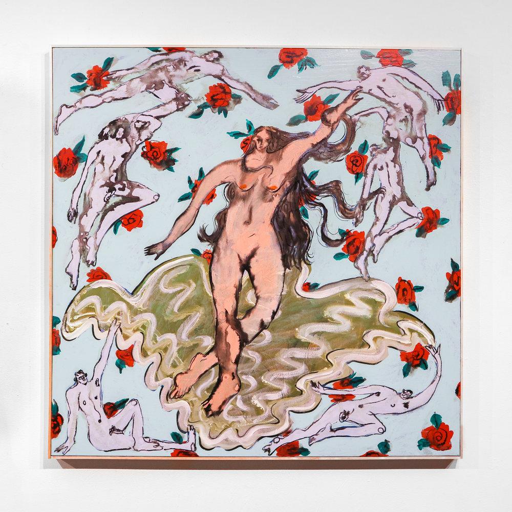 """love angel venus baby"" - 36 x 36 ""Acrylic, Oil & Ink on Canvas"