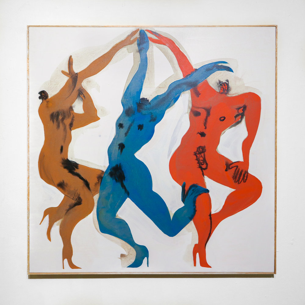 """Gays Astray"" - 36 x 36 ""Acrylic & Ink on Canvas"