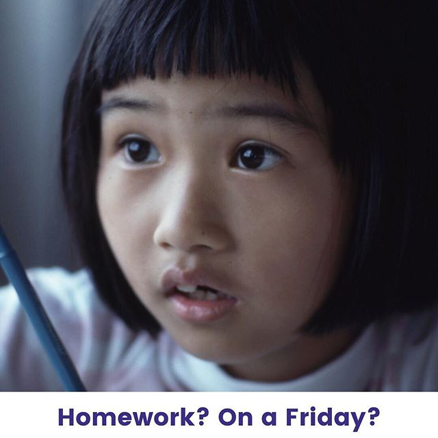 The look on a student's face when you assign homework on a Friday will always be priceless. Have a wonderful weekend and keep up your hard work!