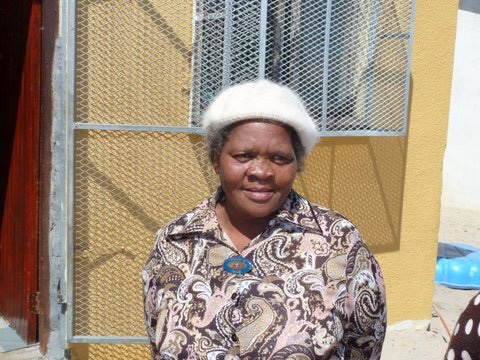 "Kate Ncisana outside her home in Khayelitsha: ""If I had known what South Africa would become I would not have fought so hard against apartheid"""