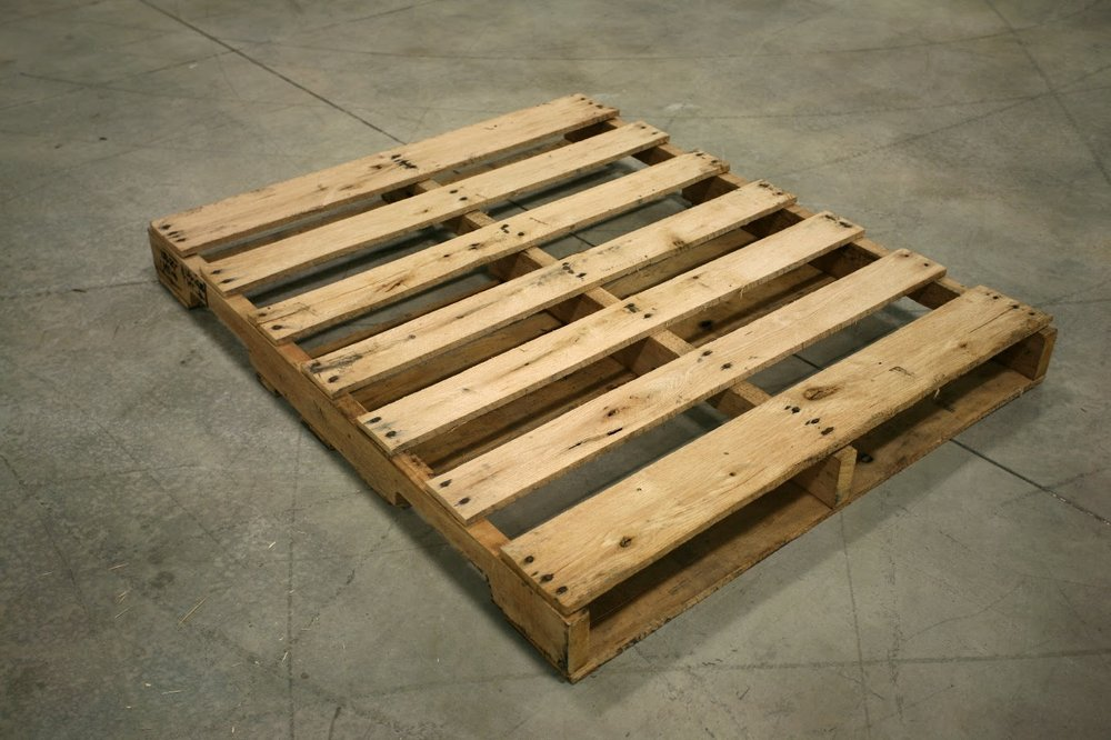 PALLETS - You will need pallets. We used 8-10 pallets for about 40 sq ft of backsplash area. Build in extra pallets because all boards are not created equal and you will be tossing some.