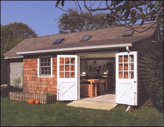 Finally, would it be too much to ask for this adorable little workshop? (Yes, it would. But, it's so sweet!)
