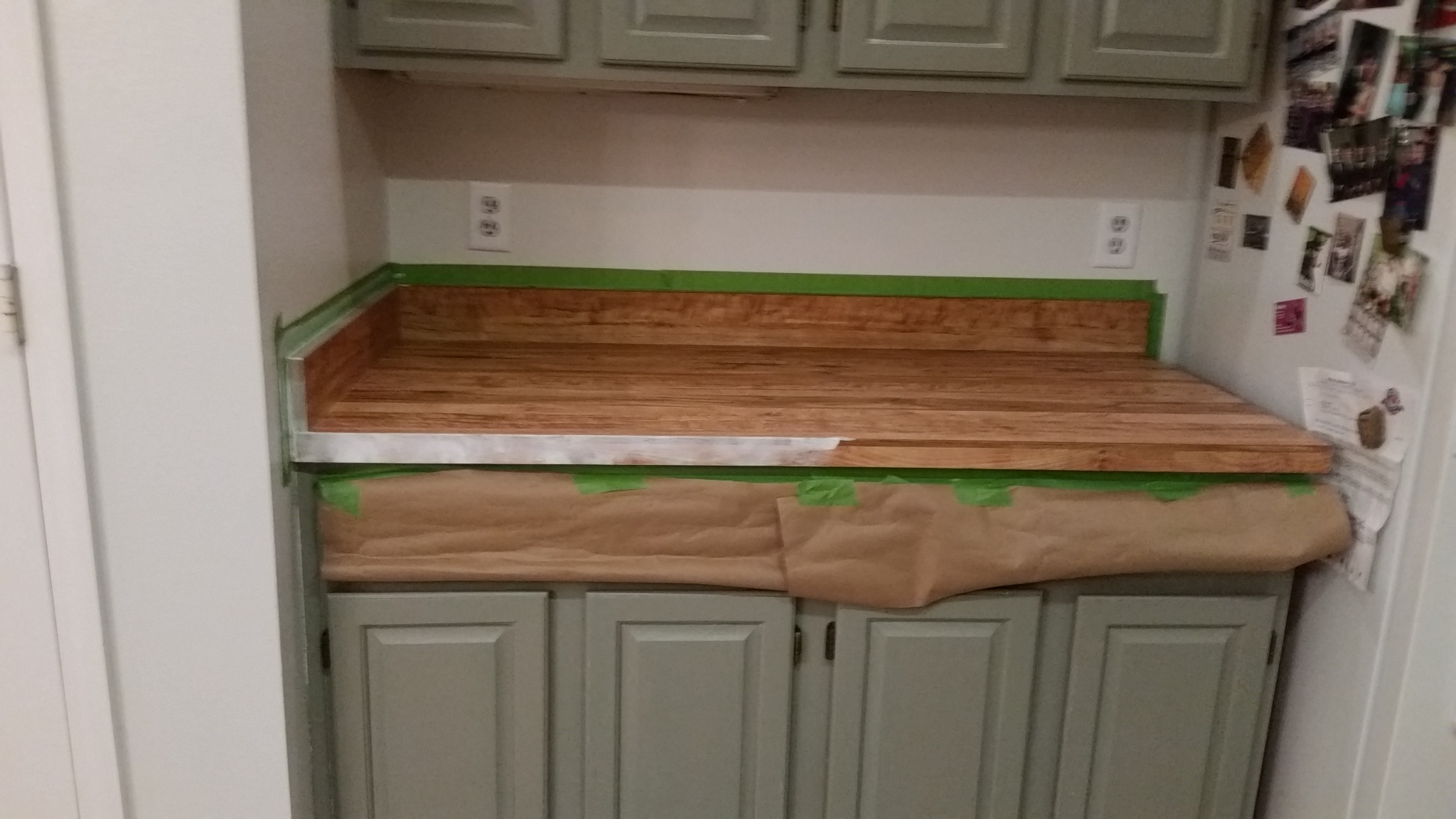 counter taped up