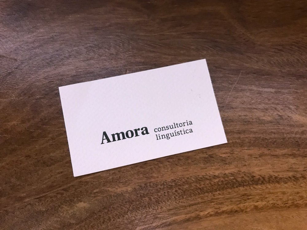 cartão amora consultoria linguística