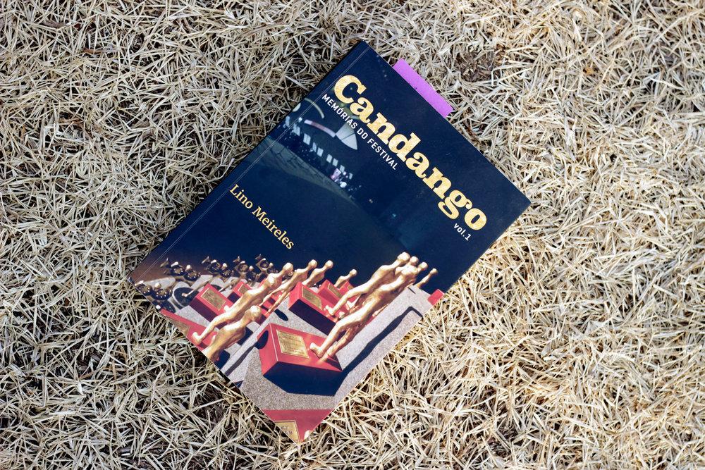Livro, Candango: Memórias do Festival, Capa, Amora Consultoria Linguística, Editora Metrópoles.