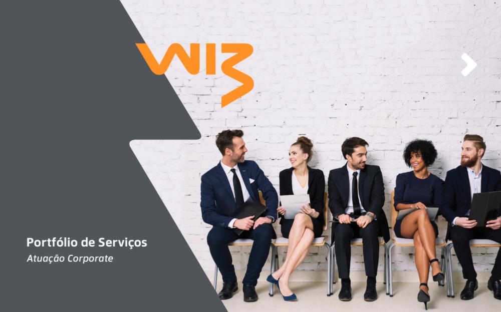 Portfolio de serviços corporate Wiz, Amora, Produção e Edição de Texto.