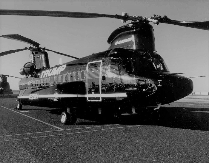 Trump Airlines Helicopter operating at East Hampton in 1980's