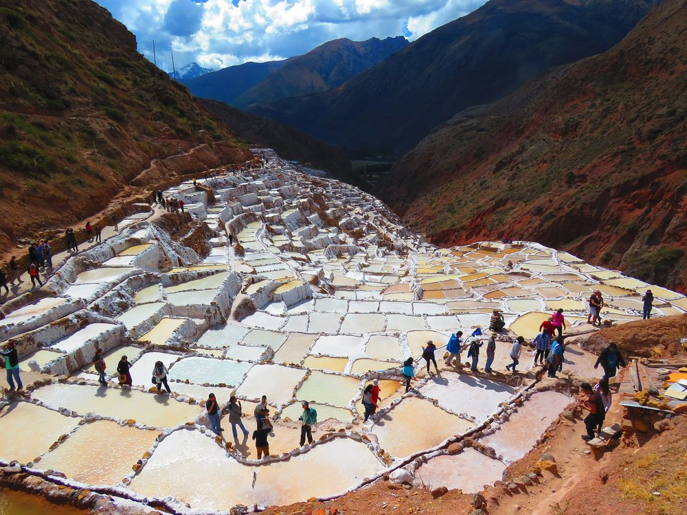 The Maras Salt Mines outside of Cusco.