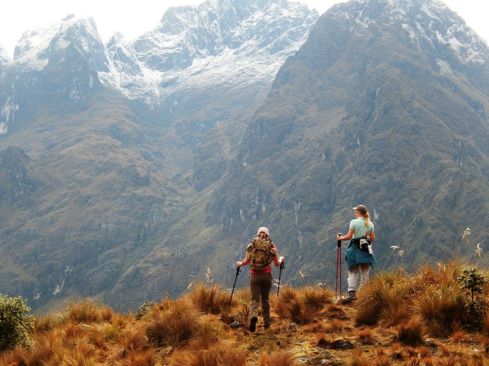 Hiking around the Lares area in the Andes.