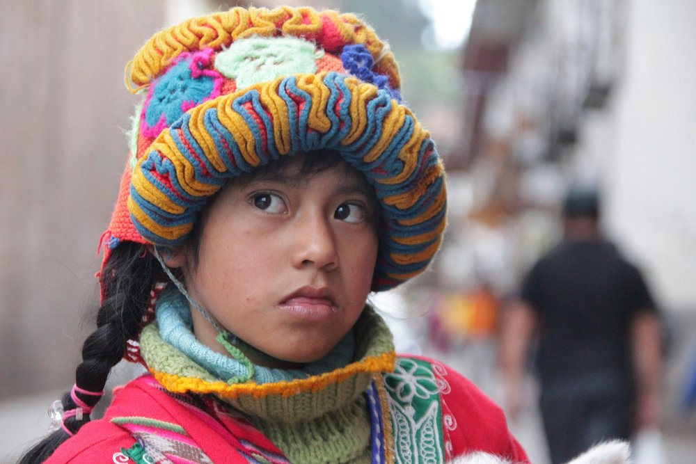 A young Quechua girl in La Paz.