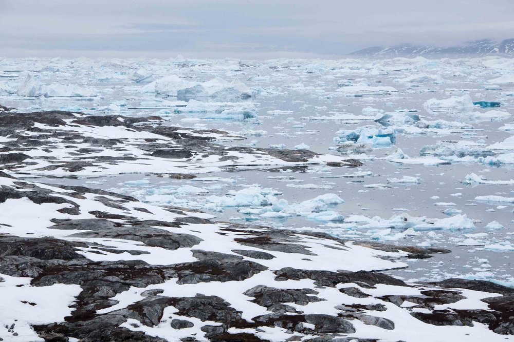 The Tinit Ice Fjord-- this place is not called one of the world's largest ice boxes for nothing.