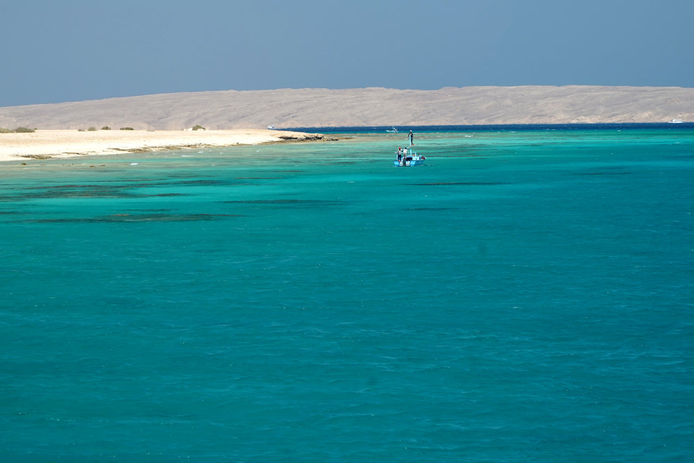 Fringing reefs off Egypt's Red Sea coast.