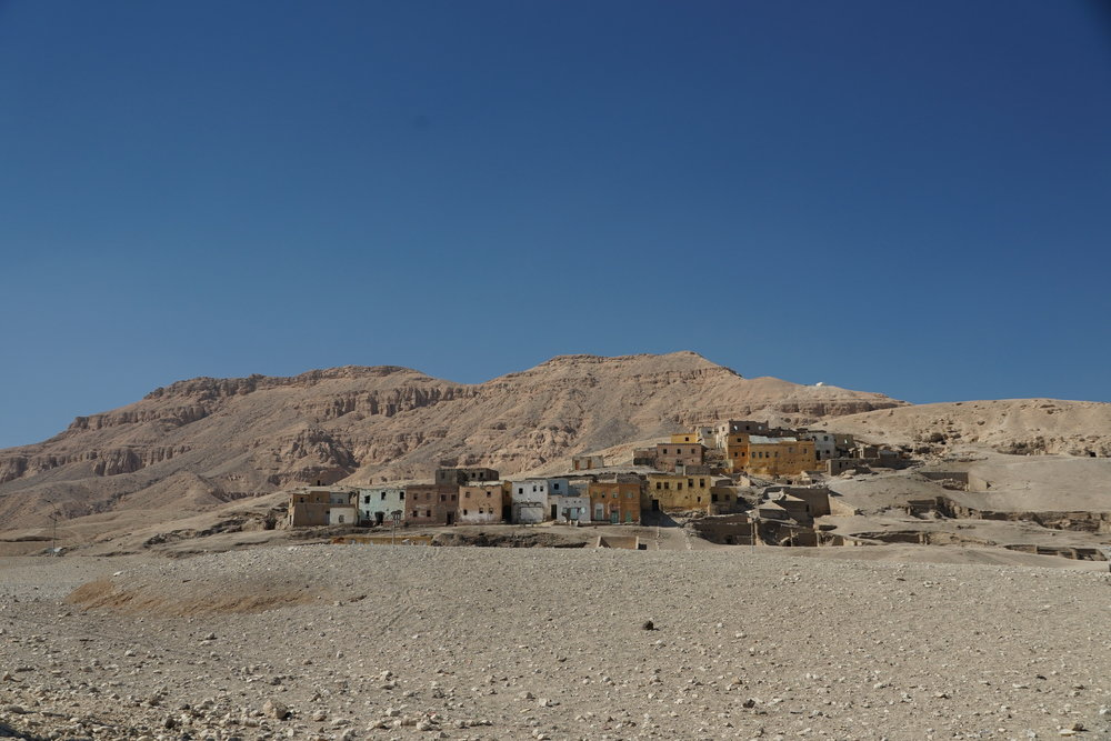 A small town outside of Luxor.
