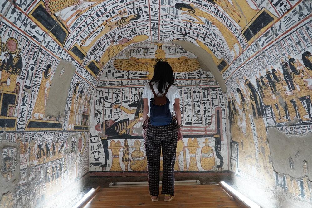 Inside an ancient artisan's tomb.