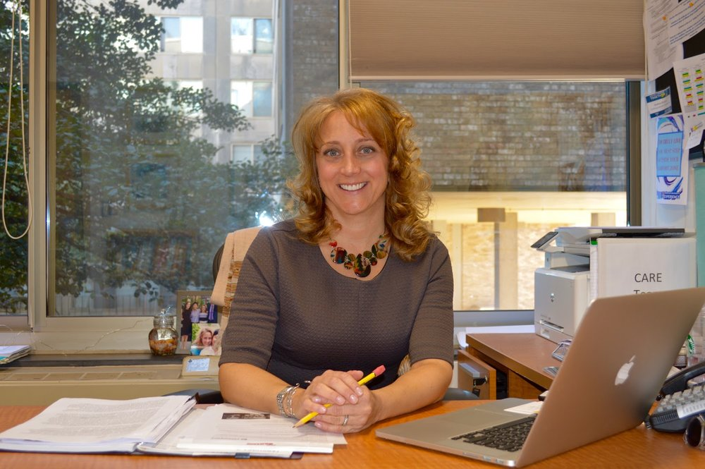 Prof. Andrea Brenner in her office