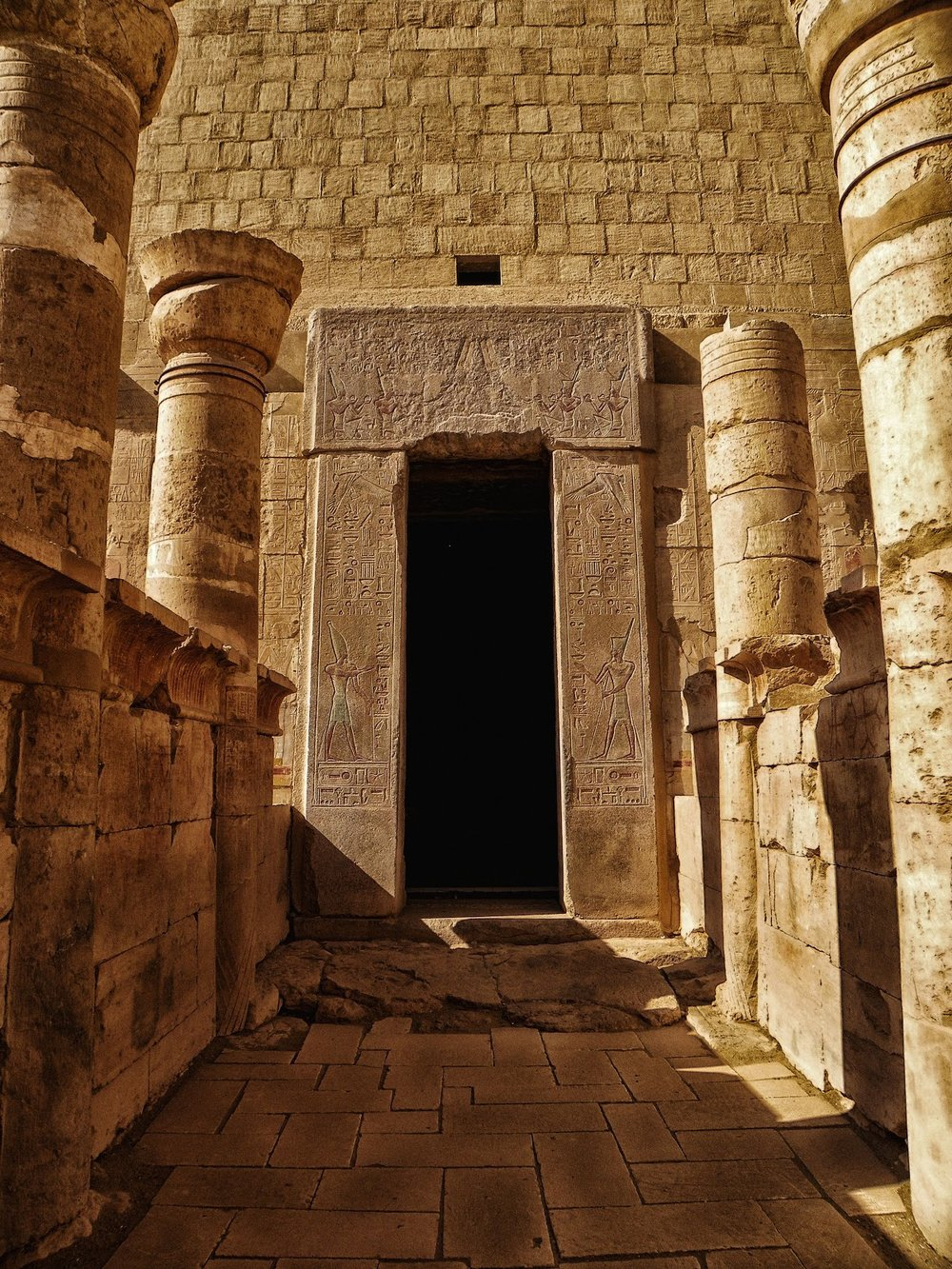 Doorway from Hatshepsut's Deir El-Bahri temple By Noor Sullivan