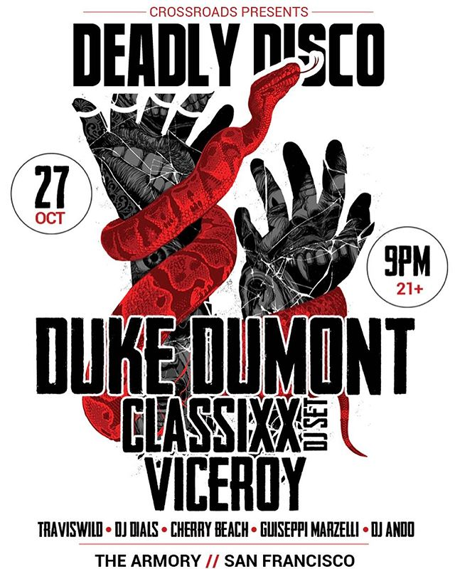 Come party with us, @dukedumont, @viceroy, and @classixx for Halloween in SF. Ticket link in the bio!!