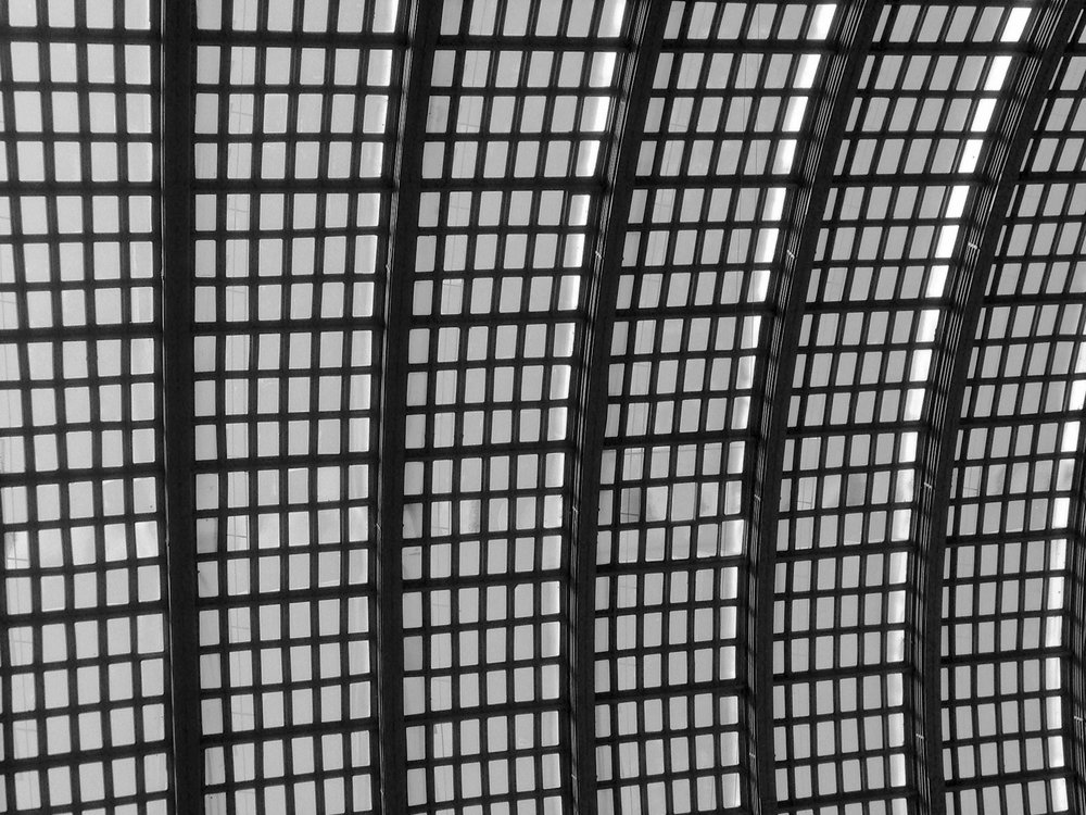 The ceiling in Chicago's South Station.