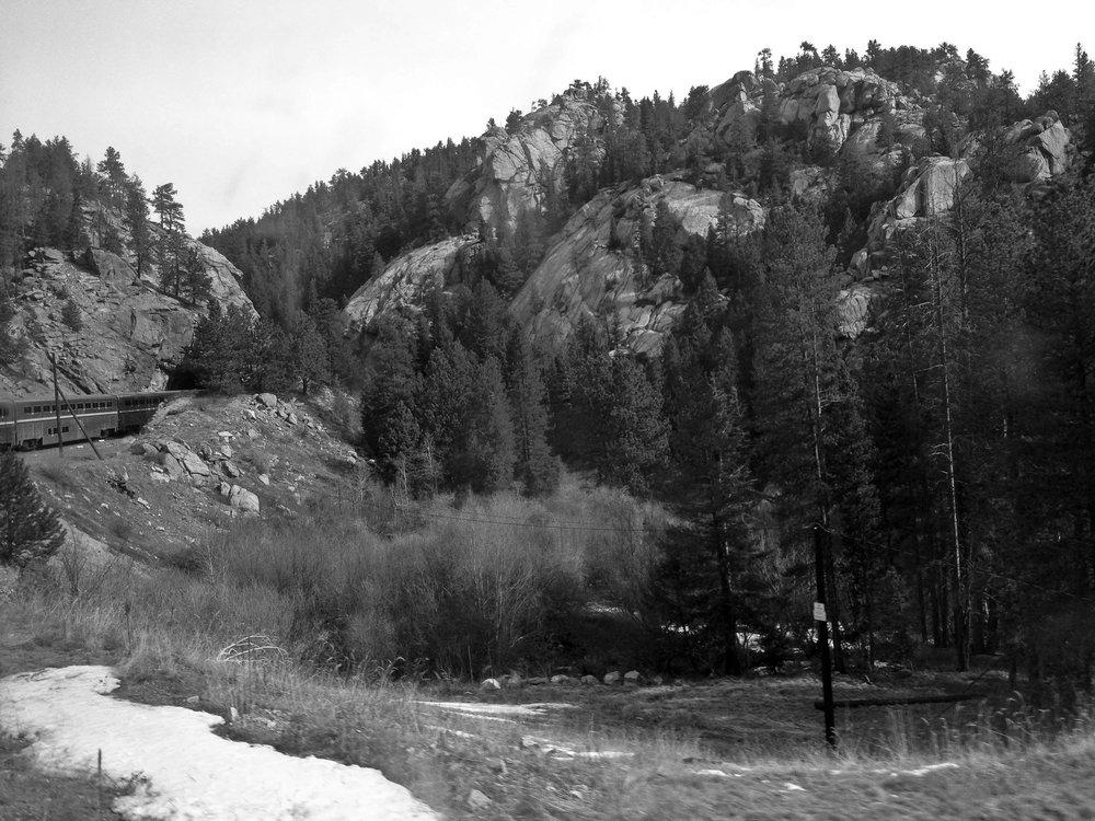 Entering a tunnel near Barker Reservoir in Colorado.