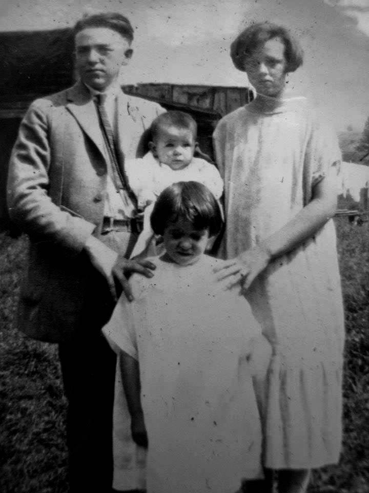 Back row: James Cady, Mary Cady (infant), Julia Cady. Front: Alice Cady.