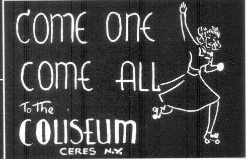 An ad for the Coliseum from the 1941-1942 Bolivar Central School yearbook.
