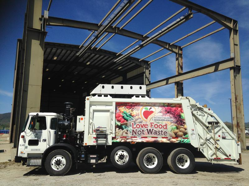Construction Underway - Facility turns food scraps into electricity.
