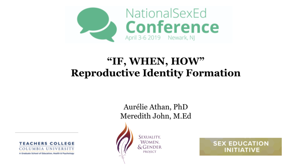 Fast forward a few years, and  Matrescence  is now evolving to become a more comprehensive and inclusive model for multiple identities and across the lifespan. I presented in 2019 A New Theory of Reproductive Identity Formation (2019) - Presentation at the National Sex Ed Conference