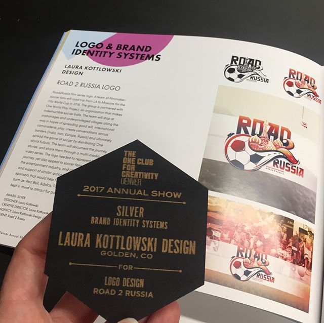 Congratulations to designer @laurakottlowskidesign for her Silver Medal in the @oneclincreativity for her design of the ROAD2RUSSIA logo!  We couldn't be happier or more proud of a supporter and fellow adventurer!  Check out some of her other awesome work and adventurous figure skating journeys!!! Thanks Laura!! #radness #design #illustrator #stoked