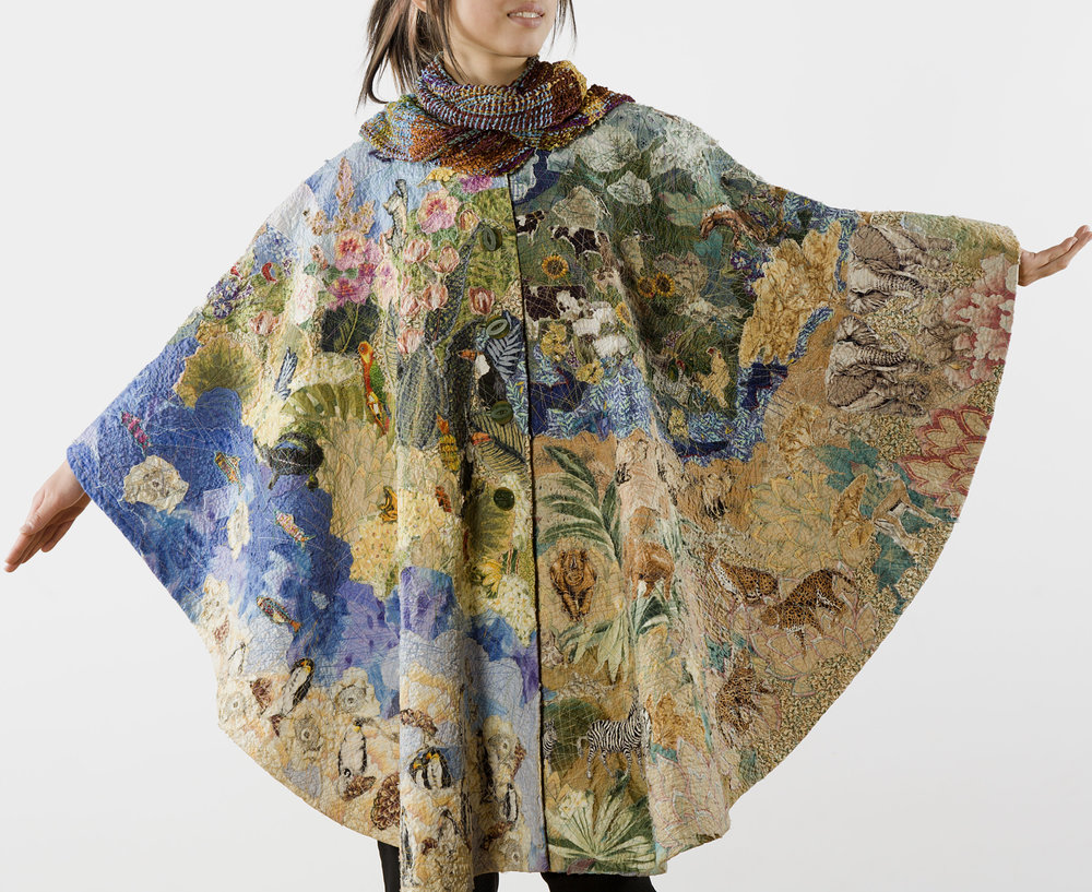 Around the World Poncho Helen Benninger