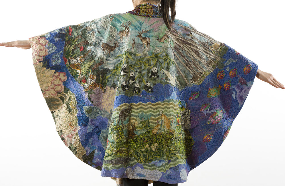 Around the World Poncho Back Helen Benninger