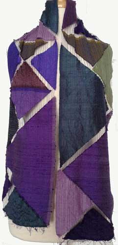 Helen Benninger Triangle silk scarf