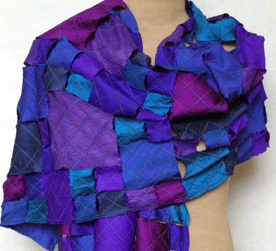Helen Benninger Silk Squares Shawl