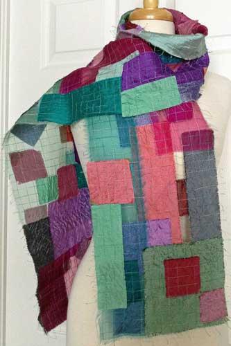 Helen Benninger Organza silk patches scarf