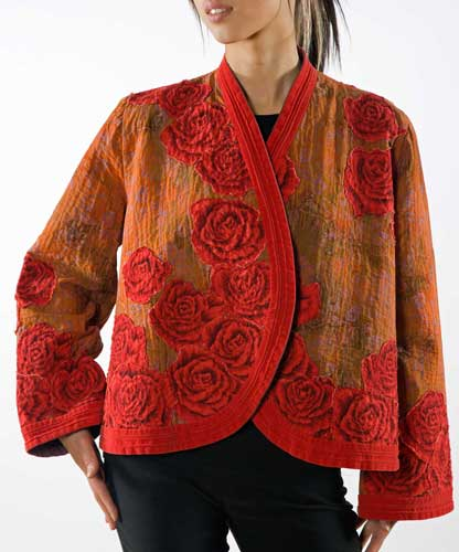 Helen Benninger Red Rose Jacket