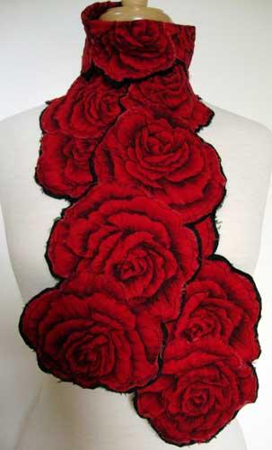 Helen Benninger Red Roses Scarf