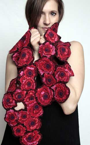 Helen Benninger Red Poppies Scarf