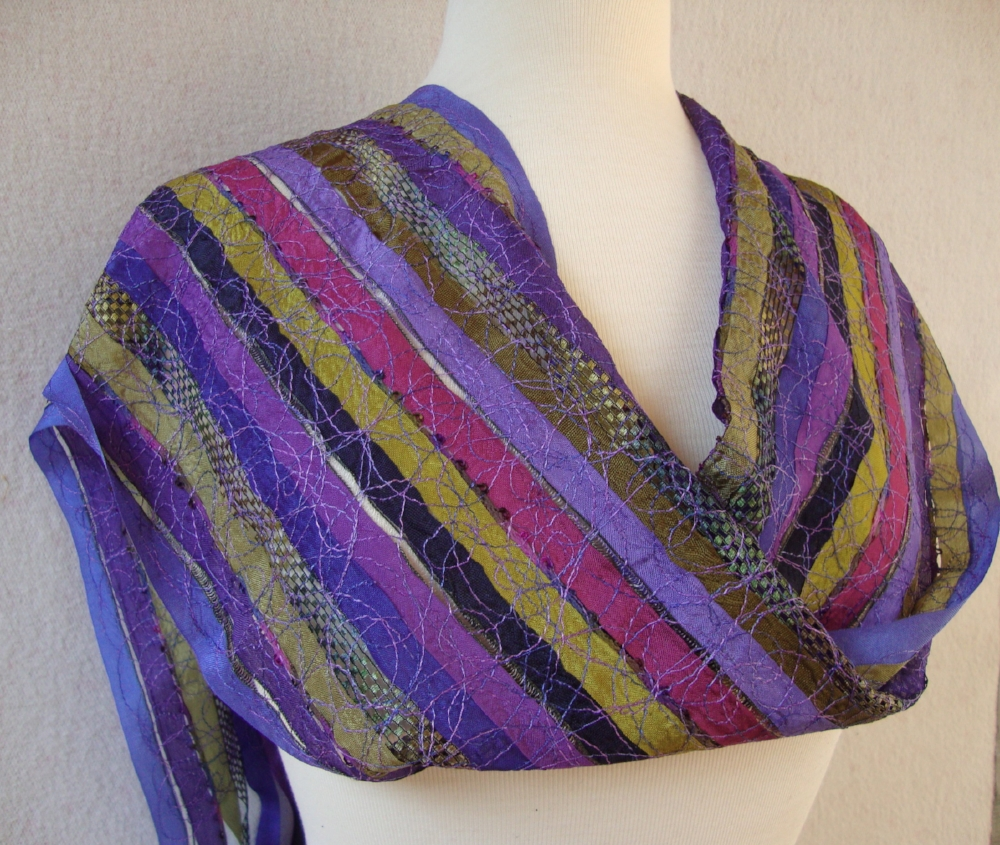 ribbon scarf Helen Benninger