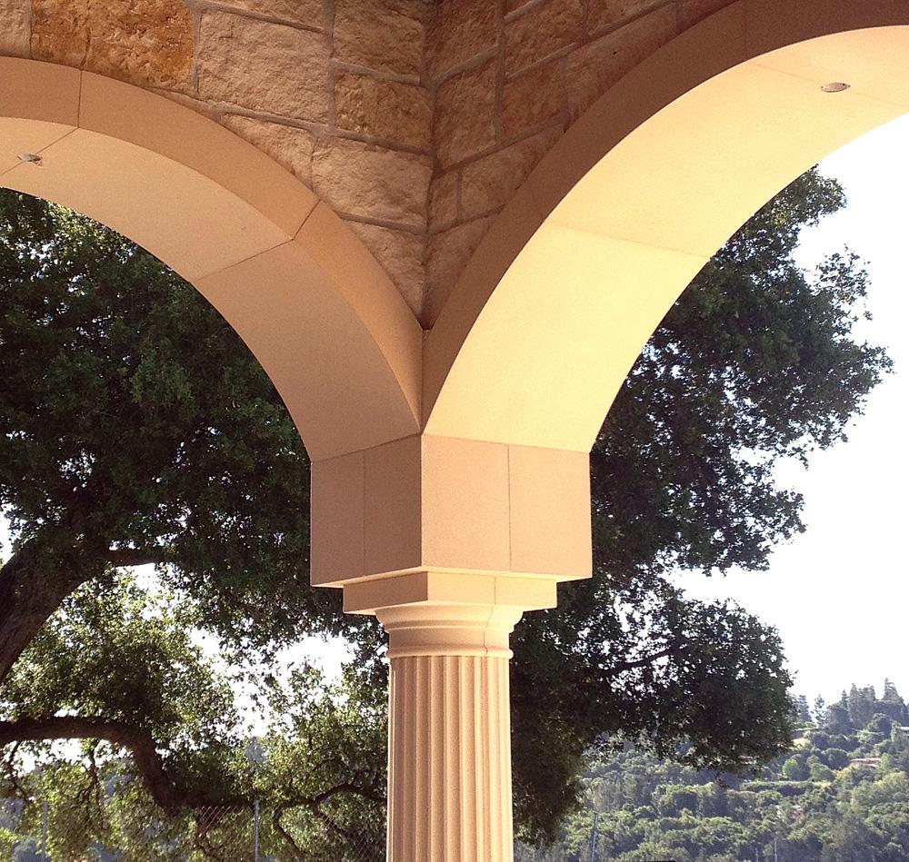GFRC Portico Fluted Column