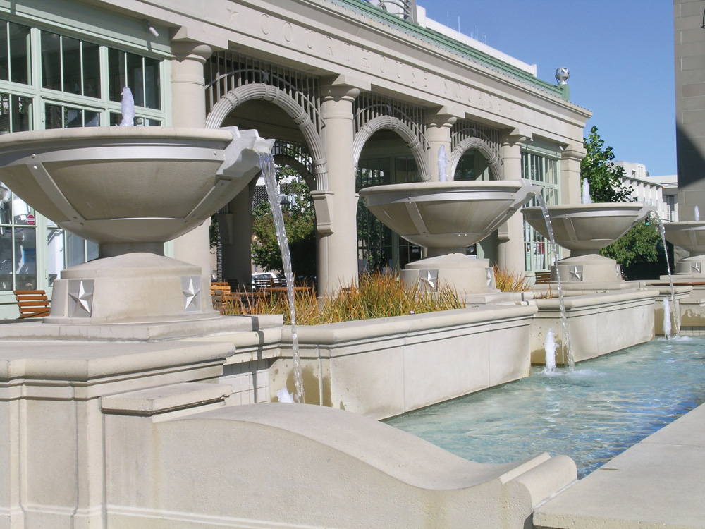 Fountain Bowls, Columns, Lintels, Cornices, etc.
