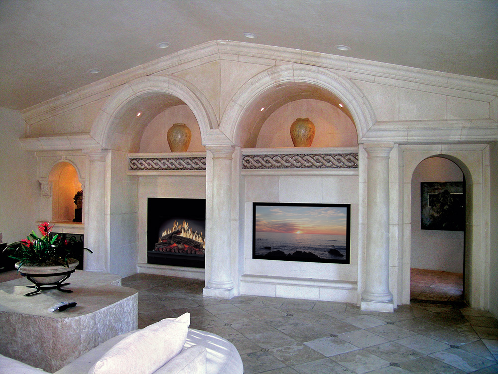 Mediterranean Custom Wall Mantel